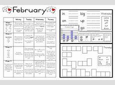 Calendar Activities For Kindergarten » Calendar Template 2018