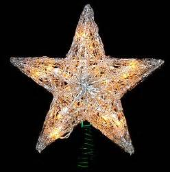 12 quot lighted snowy crystal star christmas tree topper ebay