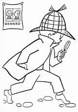 Detective Coloring Secret Agents Agent Ausmalbilder Playmobil sketch template