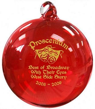theatre fundraiser with christmas ornaments