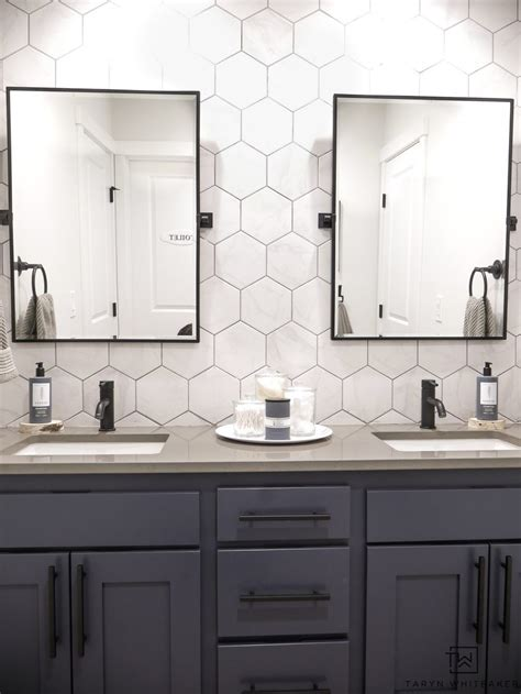 Two Mirrors In Bathroom by Sink Bathroom Vanity Makeover Bathrooms