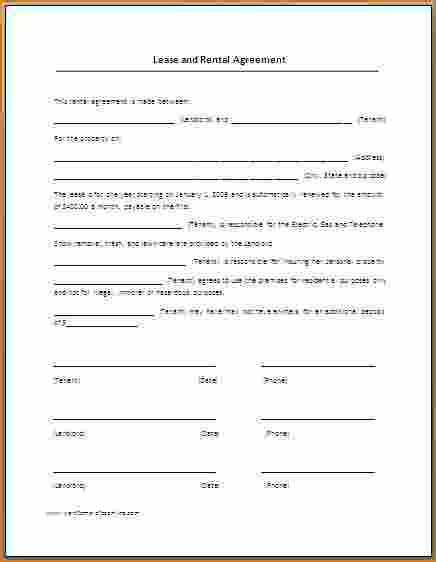 Free Lease Agreement Template Word 7 Rental Lease Agreement Template Word Printable Receipt