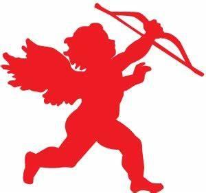 Red Valentine Cupid Clip Art