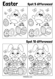 spot  difference printables images worksheets