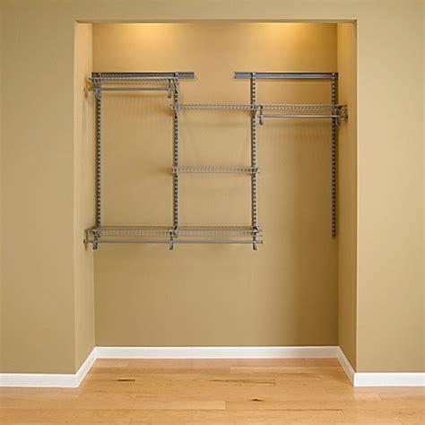 Closetmaid Wire Organizer by Closetmaid 174 Shelftrack 174 4 Foot To 6 Foot Wire Closet