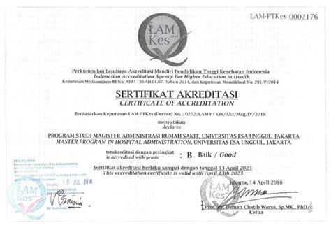 Akreditasi Universitas Esa Unggul