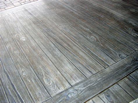 faux wood finish  concrete patio