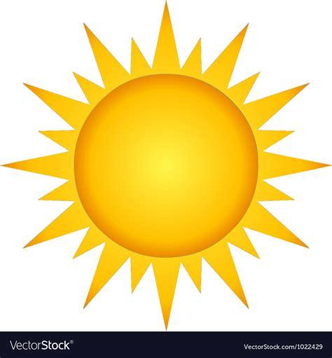 Summer hot sun Royalty Free Vector Image - VectorStock