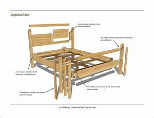 Free Woodworking Plan  Making A Queen Size Bed Step