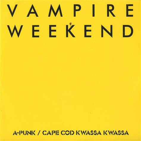 Vampire Weekend Cape Cod Kwassa Kwassa  Apunk Us 7