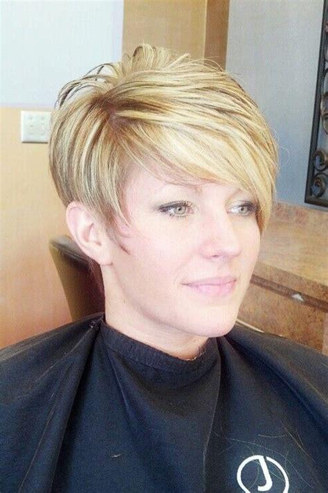 asymmetricalheavy hilights hairstyles  fine