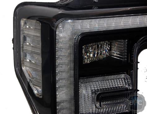 led headlights duty super clear ford custom paint oem reflectors headlight painted reflector blackflamecustoms surrounds f250 superduty f350 surround