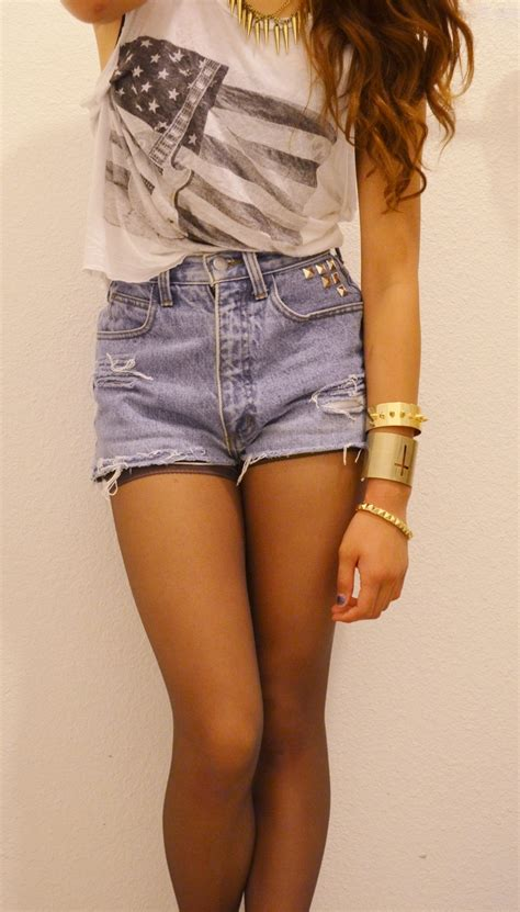 Fashion hipster boho indie Clothes bohemian kfashion outfits high waisted shorts natttx My OOTDs ...