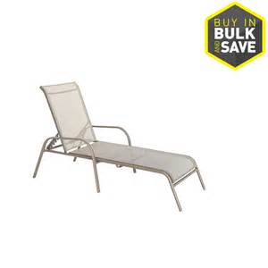 stack sling patio lounge chair shop garden treasures driscol taupe steel stackable 4