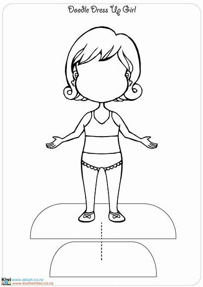 Coloring Pages Doll Dresses Clothing Getdrawings Compras