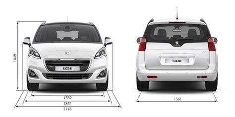 how wide is a typical car informations techniques peugeot 5008 monospace familial et compact
