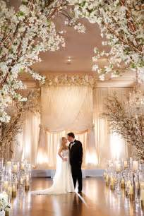 glamorous ivory blush spring wedding at a private club