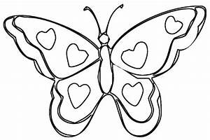 Butterfly To Color - AZ Coloring Pages
