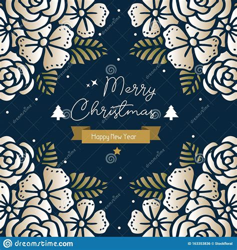Xmas background with gift box, snowflakes and balls design. Decoration Greeting Card Merry Christmas And Happy New ...