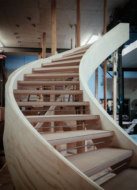 open space stairs modern curved stairs a progressive story