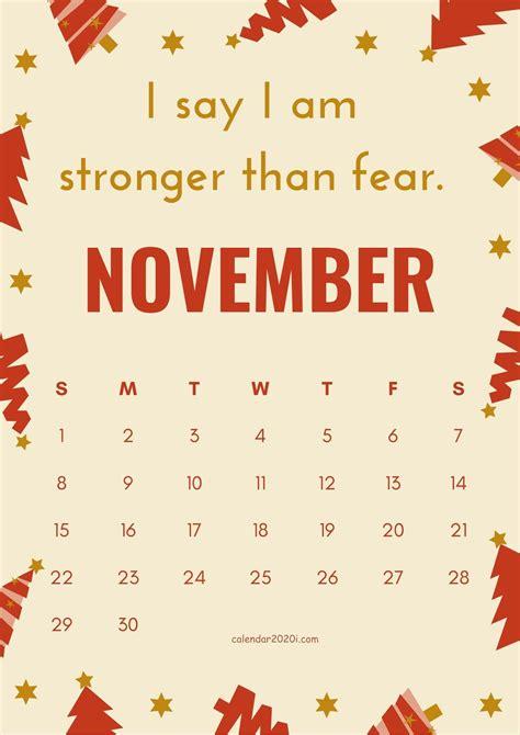 inspirational november  calendar  quotes