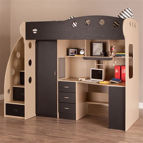 bunk loft with desk why we have to apply loft bed for small bedroom atzine com