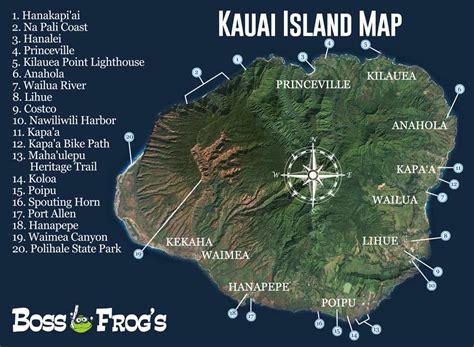 kauai island map na pali coast hanapepe poipu
