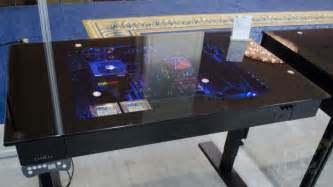lian li dk 04 sit stand computer desk enclosure pc