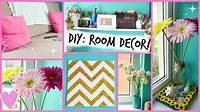 homemade room decorations DIY: Easy Room Decor Ideas ♡ - YouTube