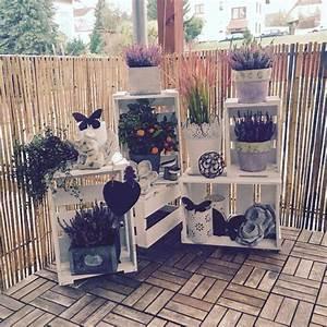 Deko Ideen Balkon : terrassen deko herbst weinkisten auf der terrasse im herbst garten pinterest nowaday garden ~ Frokenaadalensverden.com Haus und Dekorationen