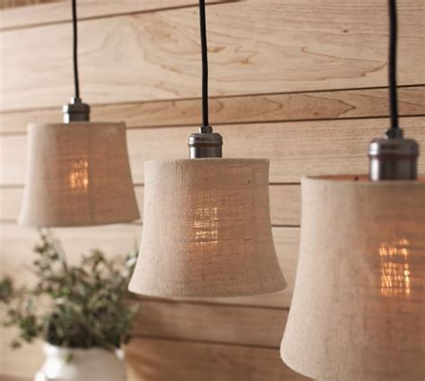 pottery barn burlap l shade burlap shade pendant track lighting pottery barn