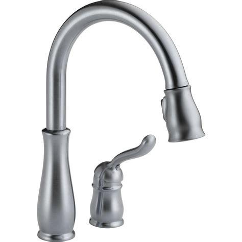 delta kitchen faucet with sprayer delta leland single handle pull sprayer kitchen