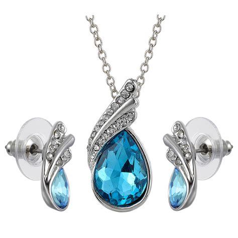 Swarovski Elements Necklace swarovski elements 18k drop earrings pendant