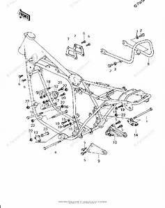 Kawasaki Motorcycle 1980 Oem Parts Diagram For Frame