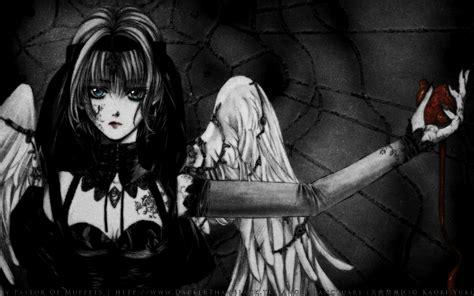 Manga Fantasy Dark Angels Wallpaper Free