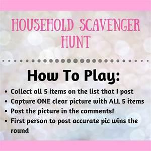 Household Scavenger Hunt Instructions  Scheduled Via