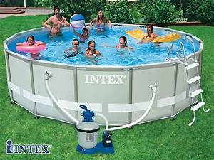 Pompe Piscine Intex 6m3 : kit piscine tubulaire intex ultra frame ronde 488 x 122cm filtration sable 6m3 h 1 cadeau ~ Mglfilm.com Idées de Décoration
