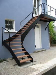 Escalier Exterieur Metal : escalier exterieur metal barriere de balcon en bois ~ Voncanada.com Idées de Décoration