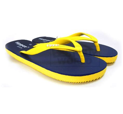 fipper eco friendly sandals slim navy yellow buyma