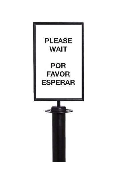 Favor Esperar Please Sided Wait