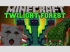 Minecraft TWILIGHT FOREST MOD DIMENSION, EPIC BOSSES AND