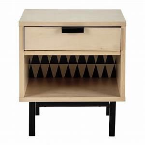 Nachttisch Mit Schublade : nachttisch mit schublade b 43 cm graphik maisons du monde ~ Eleganceandgraceweddings.com Haus und Dekorationen