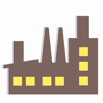 Clipart Factory Building Vector Pabrik Pixabay Illustration