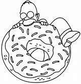 Simpsons Coloring Printable Drawings Fresh Cartoon Simpson Homer Colouring Visit Springfield sketch template