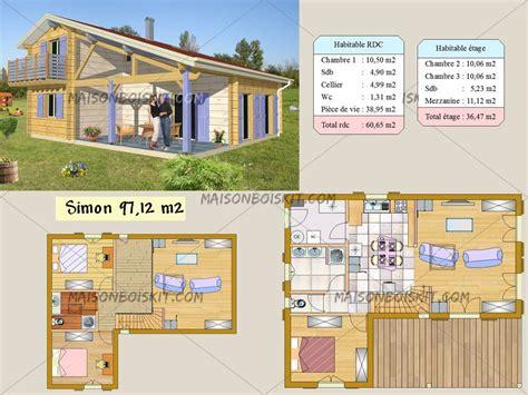 chalet 3 chambres plan gratuit de chalet en bois en kit et plan de maison bois