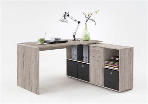 bureau d angle moderne bureau d 39 angle réversible contemporain coloris chêne