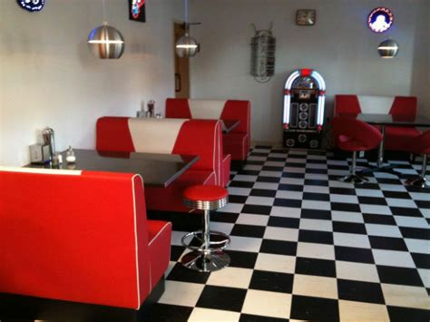 american diner retro booth sets