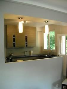 Meilleur Endroit Pour Placer Le Miroir En Feng Shui : cuisine ouverte et sejour solutions pour la d coration ~ Premium-room.com Idées de Décoration