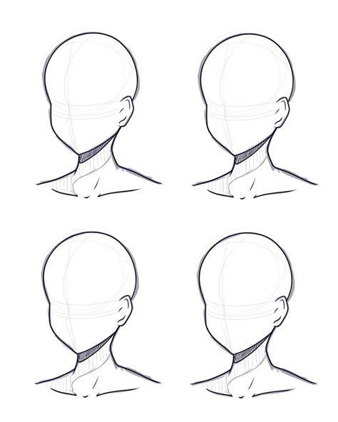 head design base sketch  lineart  kitsunetsukiko