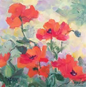 Impressionist Painting Poppies